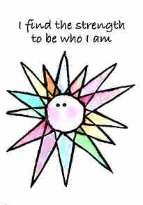 I find the strength to be who I am